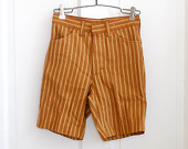 Boys-vintage-retro-brown-stripe-shorts